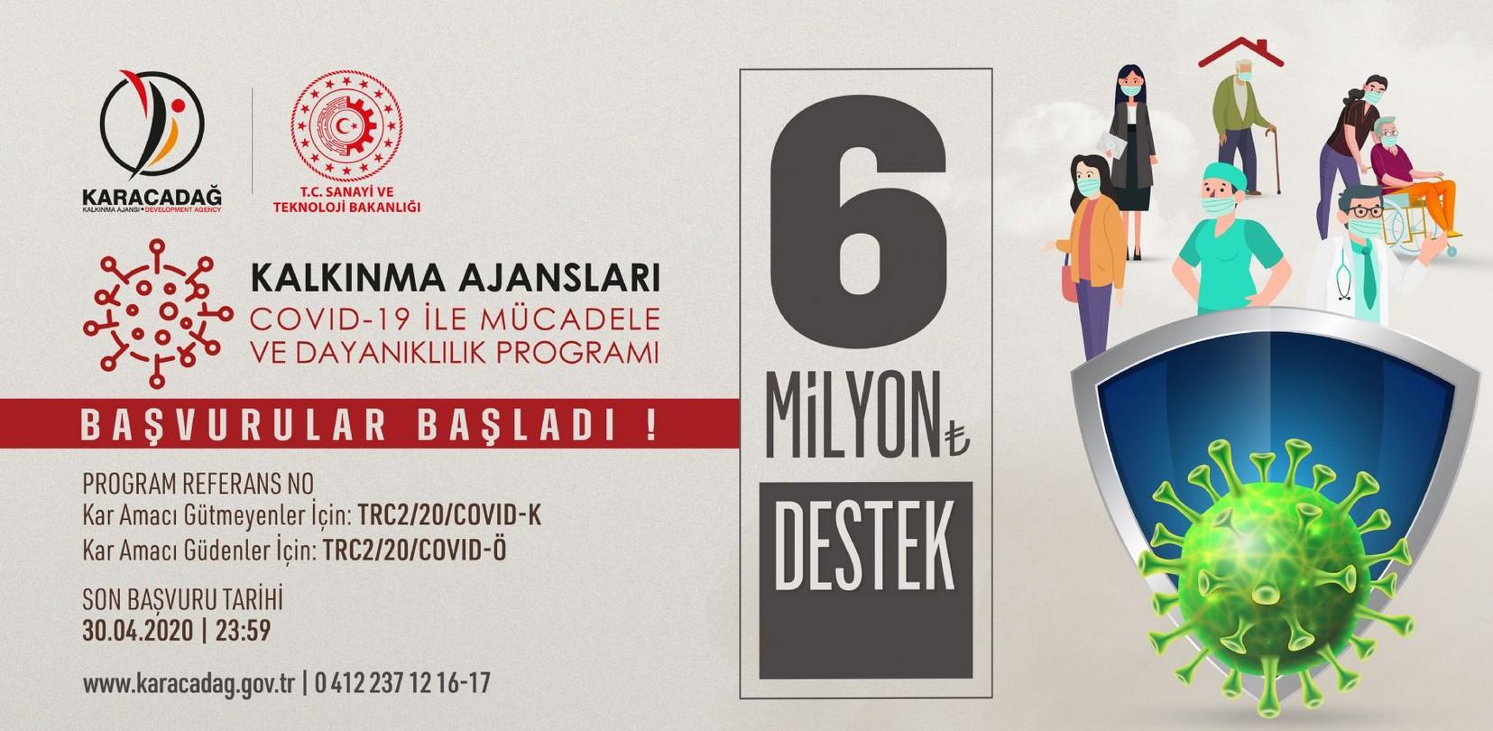 Karacadağ Kalkınma Ajansı Diyarbakır - Şanlıurfa COVID-19 ile Mücadele ve Dayanıklılık Programı
