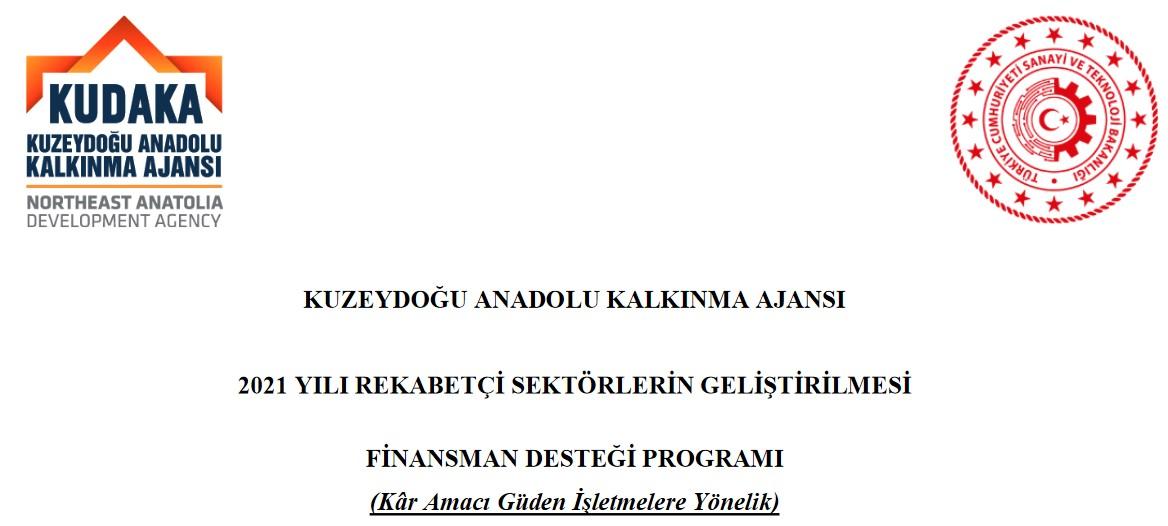 Kuzeydoğu Anadolu Kalkınma Ajansı 2021 Yılı Rekabetçi Sektörlerin Geliştirilmesi Finansman Desteği Programı